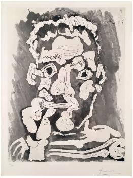 Fumeur, aquatint and etching